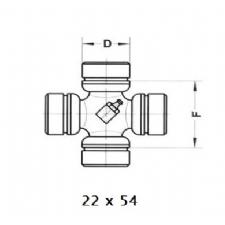 Mafsal İstavrozu Ziraat Makinası 22X54